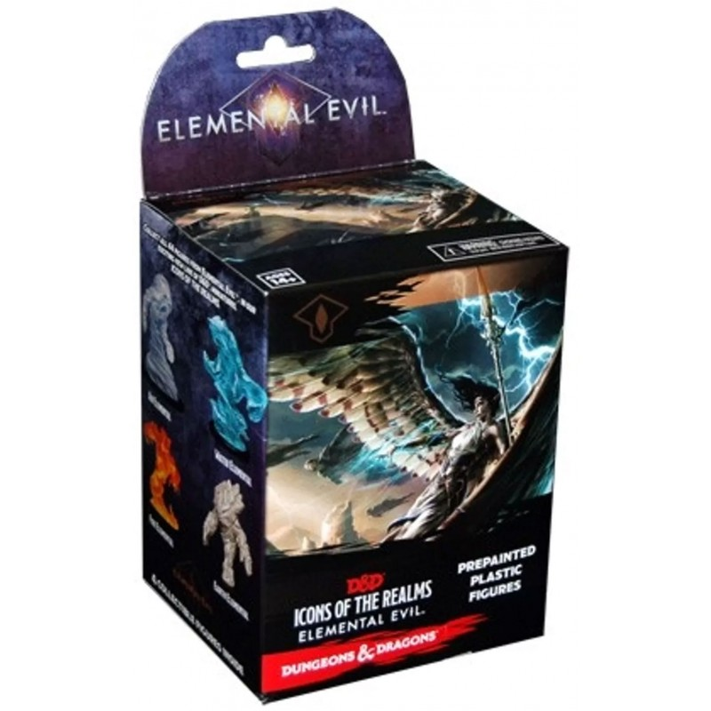 Kit com 4 Bonecos Dungeons and Dragons Icons Of The Realms Elemental Evil  D&D Wizards of the Coast Neca Wizkids
